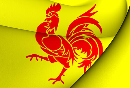 wallonie: Flag of Wallonia. Close Up.    Stock Photo