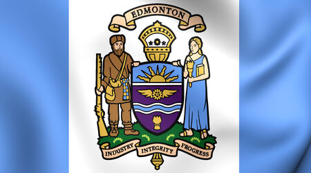 edmonton: Flag of Edmonton, Canada. Close Up.