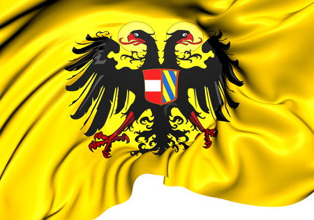 holy roman emperor: Holy Roman Empire Flag (1493-1556). Close Up.