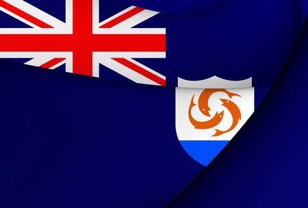 アンギラの旗。クローズ アップ...