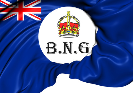 protectorate: Flag of British New Guinea (1888-1906). Close Up.