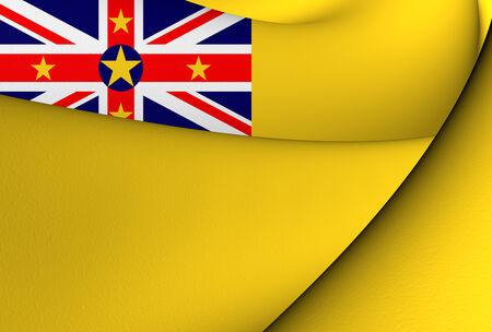 niue: Flag of Niue. Close Up.