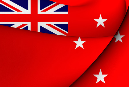 ensign: Civil Ensign of New Zealand. Close Up.