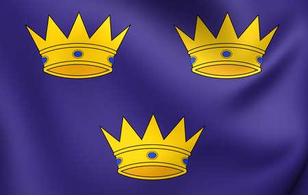 Flag of Munster, Ireland. Close Up.    photo
