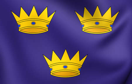munster: Flag of Munster, Ireland. Close Up.