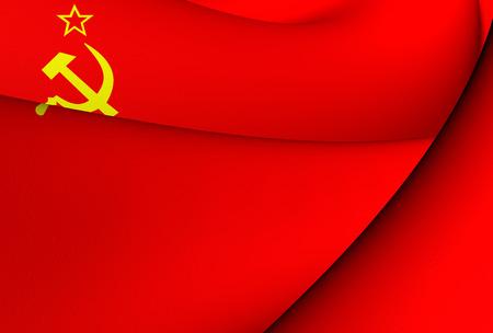 communistic: Bandera de la Uni�n Sovi�tica. De cerca.