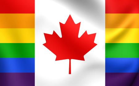 bandera gay: Canad� Bandera Gay. De cerca.
