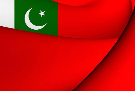 ensign: Civil Ensign of Pakistan. Close Up.
