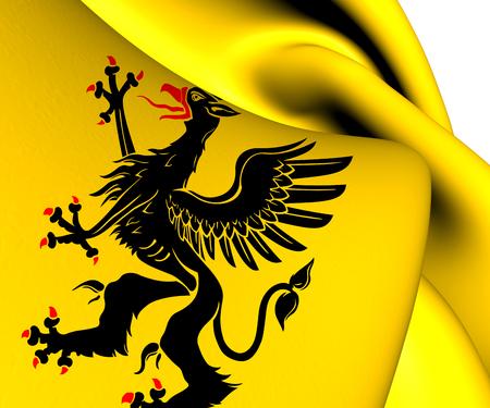 sverige: Flag of Sodermanland County, Sweden. Close Up.