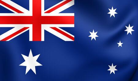 australia flag: Flag of Australia. Close Up.    Stock Photo