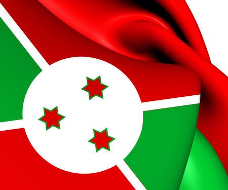 burundi: Flag of Burundi. Close Up.