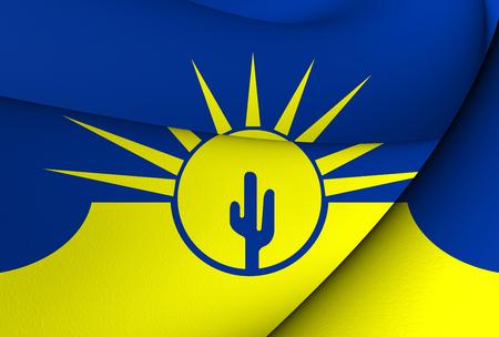mesa: Flag of Mesa, USA. Close Up.