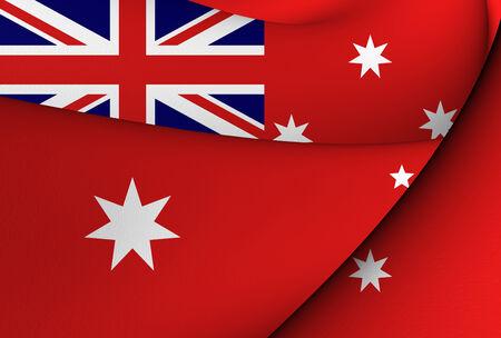 ensign: Civil Ensign of Australia. Close Up.