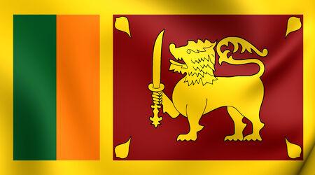 ceylon: Flag of Sri Lanka. Close Up.