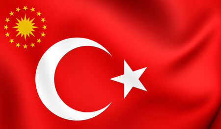 presidential: Presidential Flag of Turkey. Close Up. Stock Photo