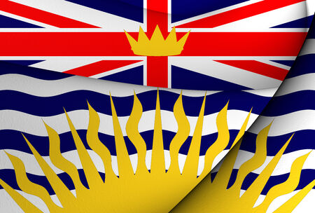 Flag of British Columbia, Canada. Close Up. photo