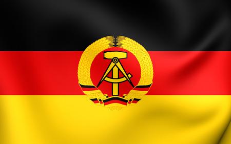 ddr: Flag of German Democratic Republic. Close Up. Stock Photo