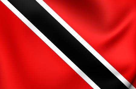 trinidad and tobago: Flag of Trinidad and Tobago. Close Up. Stock Photo