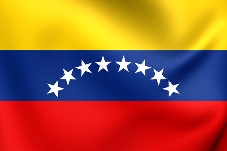 Civil Ensign of Venezuela. Close Up. photo