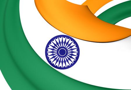 bandera blanca: Bandera de la India. De Cerca. Foto de archivo