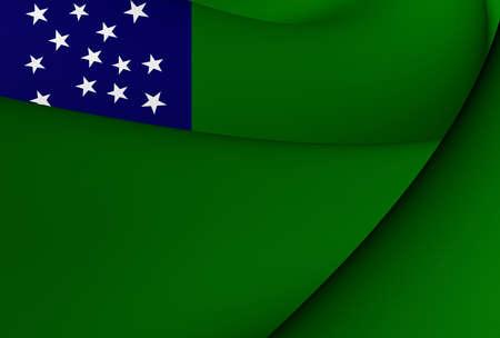 Flag of Vermont Republic. Close Up. photo