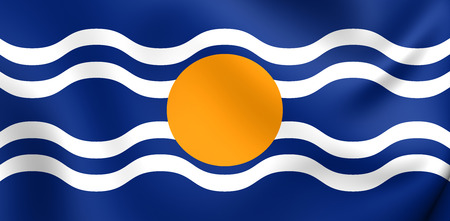 Flag of West Indies Federation (1958-1962). Close Up. photo