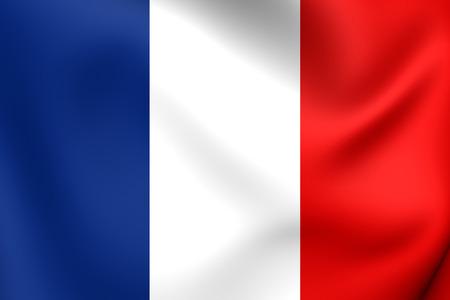 フランスの旗。クローズ アップ。