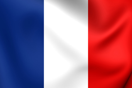 france flag: Flag of France. Close Up. Stock Photo