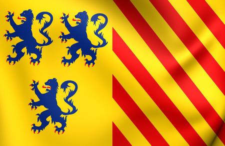 alternate: Alternate Flag of Limousin, France. Close Up.