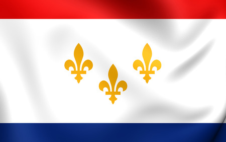 new orleans: Flag of New Orleans, USA. Close Up.