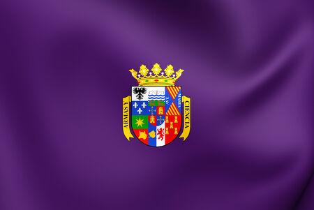 palencia province: Flag of Palencia Province, Spain. Close Up. Stock Photo