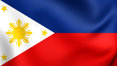 필리핀의 국기. 닫다.