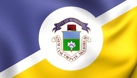 winnipeg: Flag of Winnipeg, Canada. Close Up.