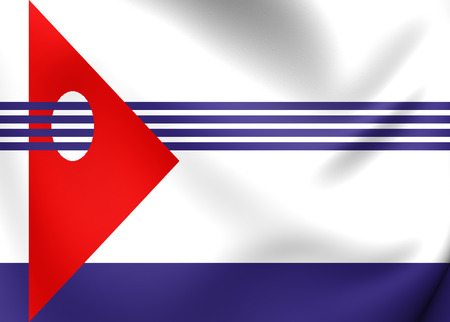 artigas: Flag of Artigas Department, Uruguay. Close Up.