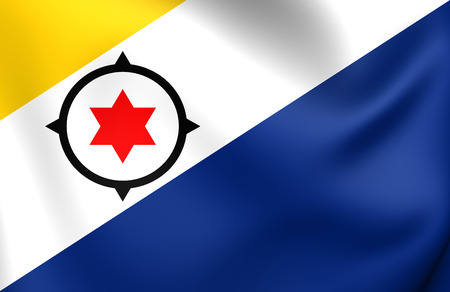 bonaire: Flag of Bonaire. Close Up.