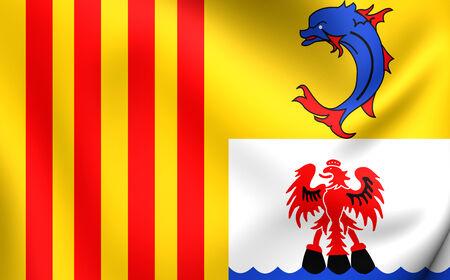 blason: Provence-Alpes-Cote dAzur Flag, France. Close Up. Stock Photo