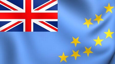 tuvalu: Flag of Tuvalu. Close Up.