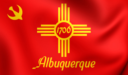 albuquerque: Flag of Albuquerque, USA. Close Up.