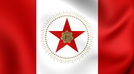Flag of Birmingham, USA. Close Up. photo