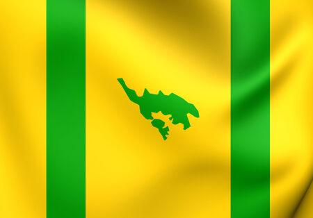 lagoon: Flag of Isla Culebra, Puerto Rico.
