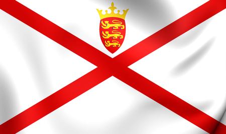 bailiwick: Bailiwick of Jersey Flag. Close Up. Stock Photo
