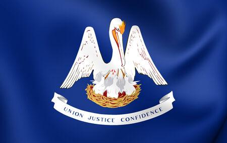 louisiana flag: Flag of Louisiana, USA. Close Up.