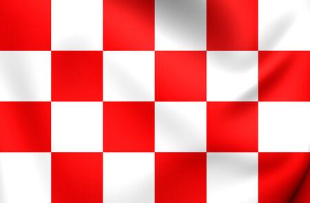 noord brabant: Flag of North Brabant, Netherlands. Close Up.