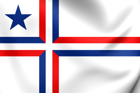 panamanian: Flag of Palotina, Panama. Close Up. Stock Photo