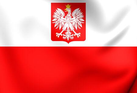 Flag of Poland. Close Up. photo