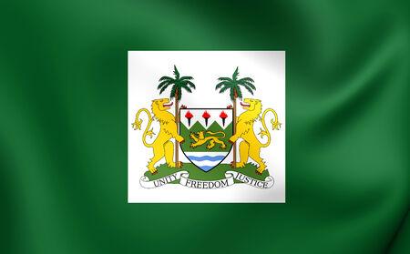 presidental: President Standard of the Sierra Leone. Close Up.