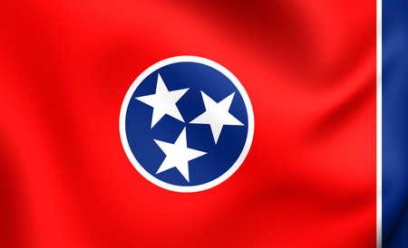 tennesse: Bandera de Tennessee, EE.UU.. De cerca. Foto de archivo