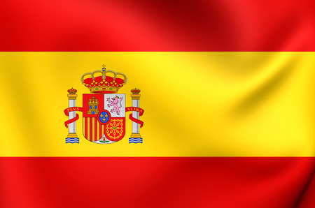 europe closeup: Flag of Spain. Close Up. Stock Photo