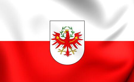 tyrol: Flag of Tyrol, Austria. Close Up.