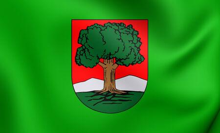 Flag of Walbrzych, Poland. Close Up. photo